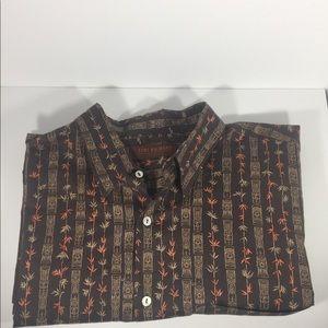 Tori Richard Brown Honolulu Short Sleeve Shirt